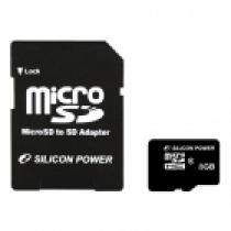 Silicon Power 8GB Micro Secure Digital Card  + SD adapter CL4